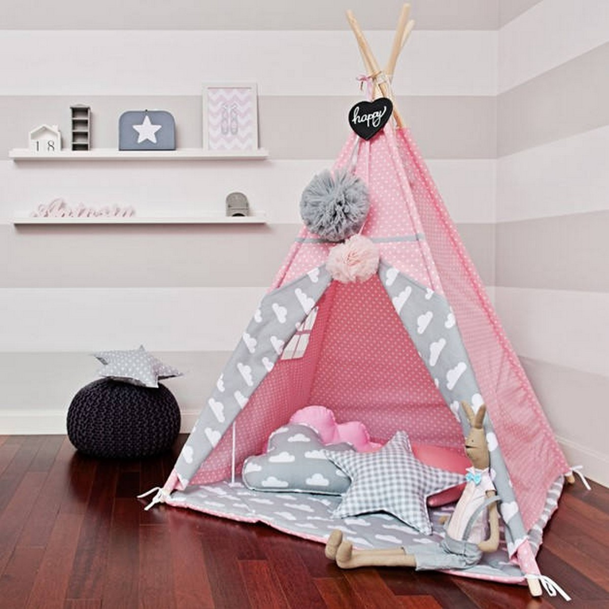 Teepees have always been a fun place to play in and a safe place to hide in – just what every kid needs!