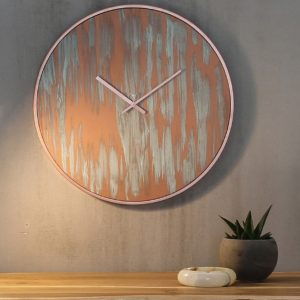 For a modern look in any room, the Rust Copper Industrial Wall Clock will add a trendy twist to any wall. Perfect to give a special touch to your home or a nice present to someone who cares about being on time!