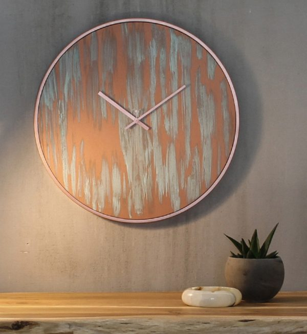 Rust Copper Industrial Wall Clock – 4