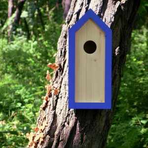 A stylish feeding haven, the Wooden Birdhouse Emma Sailor is a great bird feeder in a quirky design that will look great when hung in the garden.