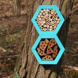 Designed to look wonderful in a garden, the Bee Grand Hotel Turquoise is an ideal gift for a gardener or a wildlife enthusiast as well as anyone with a garden who is interested in garden design.