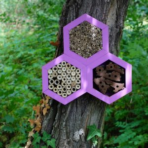 Designed to look wonderful in a garden, the Bee Triangle Hotel Lavender is an ideal gift for a gardener or a wildlife enthusiast as well as anyone with a garden who is interested in garden design.
