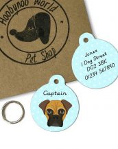 A lovely little gift for a pet owner or a stocking filler, the BullMastiff Dog Personalised Pet Name ID Tag provides the ideal accessory for your beloved pets.