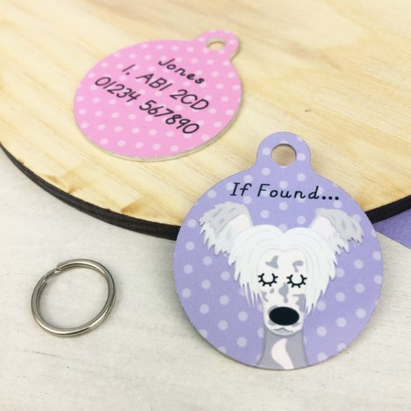 Chinese Crested Dog Personalised Pet Name ID Tag – 1
