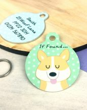 A lovely little gift for a pet owner or a stocking filler, the Corgi Dog Personalised Pet Name ID Tag provides the ideal accessory for your beloved pets.