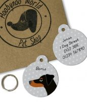 A lovely little gift for a pet owner or a stocking filler, the Doberman Dog Personalised Pet Name ID Tag provides the ideal accessory for your beloved pets.