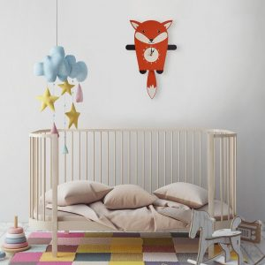 A great gift and a lovely addition to any nursery or bedroom, the Felix The Fox Pendulum Wall Clock is a great way of helping children learn to tell the time whilst offering a stunning wall decoration.