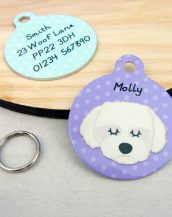 A lovely little gift for a pet owner or a stocking filler, the Maltese Terrier Dog Personalised Pet Name ID Tag provides the ideal accessory for your beloved pets.