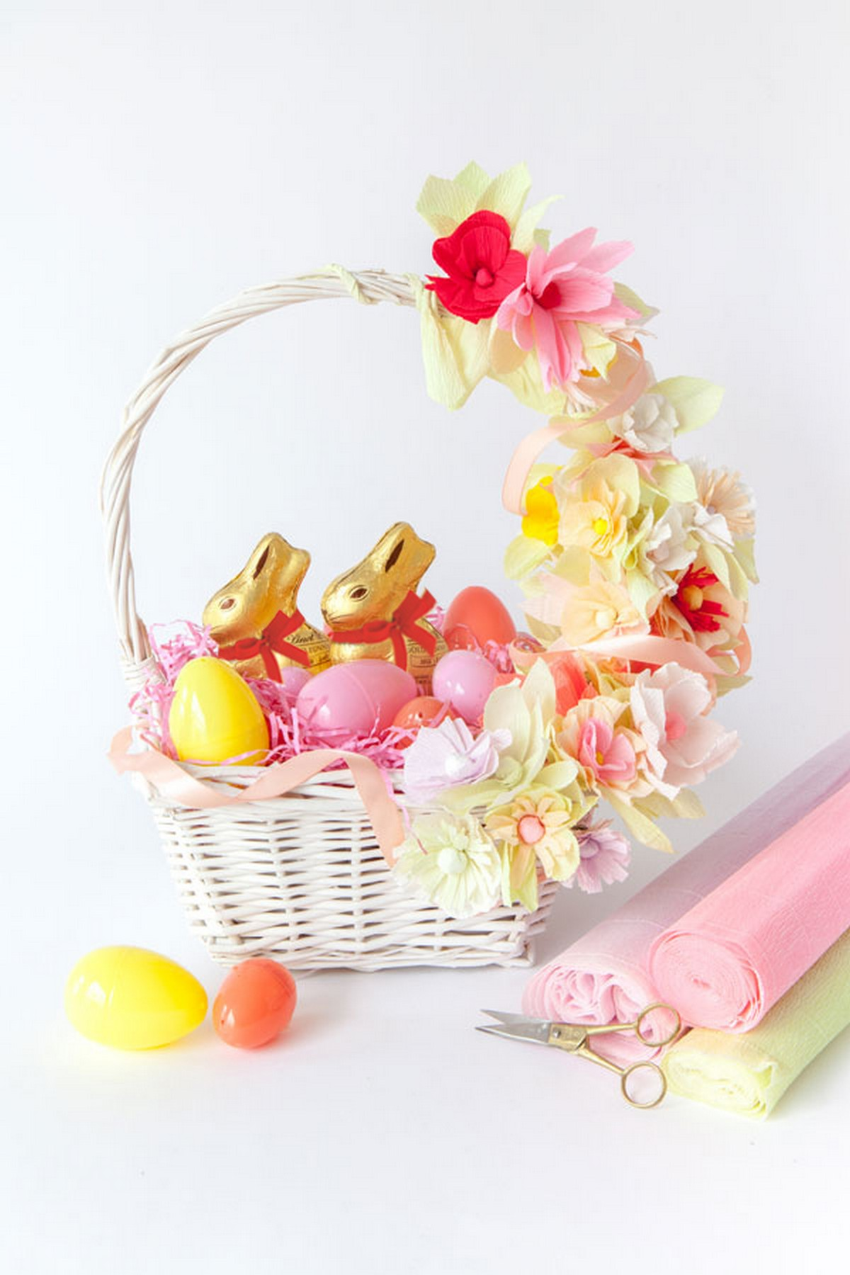 Cute homemade easter basket ideas diy crafts a matter of style diy paper flower basket mightylinksfo