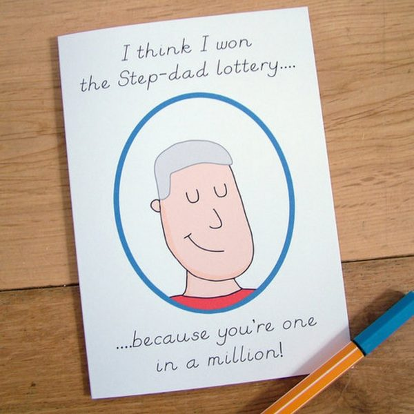 'One in a Million' Step-Dad Card
