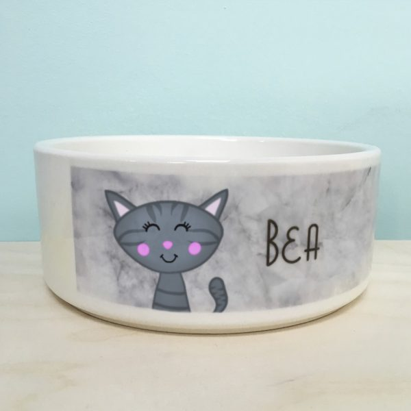 Personalised Cat Bowl Marble