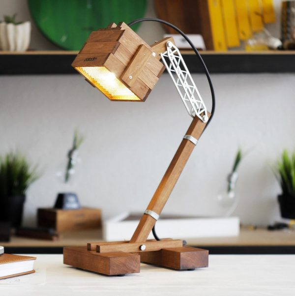 Kran L Premium Wooden Desk Lamp – 9