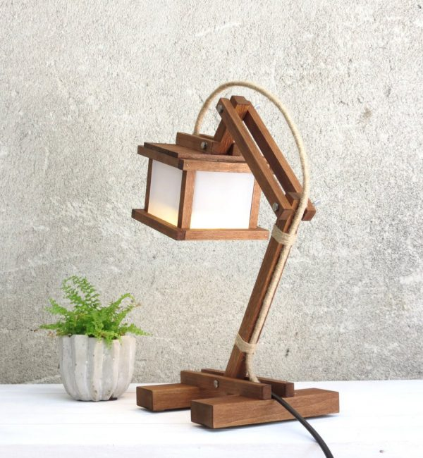 Kran Paus Wooden Desk Lamp – 4