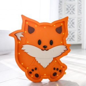 Perfect for setting a calm moon in your kid's bedroom, the Fox Decorative Night Light gives a soft glow when turned on.