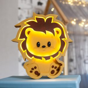 Perfect for setting a calm moon in your kid's bedroom, the Lion Decorative Night Light gives a soft glow when turned on.