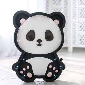 Perfect for setting a calm moon in your kid's bedroom, the Panda Bear Decorative Night Light gives a soft glow when turned on.
