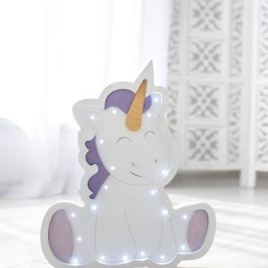 Perfect for setting a calm moon in your kid's bedroom, the Unicorn Decorative Night Light gives a soft glow when turned on.