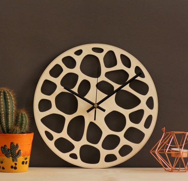 Abstract Wooden Wall Clock