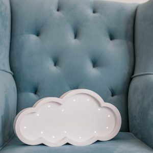 Perfect for setting a calm moon in your kid's bedroom, the Cloud Decorative Night Light gives a soft glow when turned on.