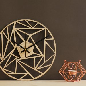 With a sophisticated and functional look, the Geometric Art Wooden Wall Clock will add an element of starry spirit to any room.