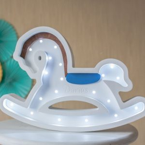 Perfect for setting a calm moon in your kid's bedroom, the Horse Decorative Night Light gives a soft glow when turned on.