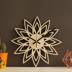 With a sophisticated and functional look, the Retro Art Wooden Wall Clock will add an element of starry spirit to any room.