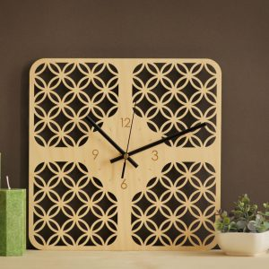 With a sophisticated and functional look, the Rusty Wooden Wall Clock will add an element of starry spirit to any room.