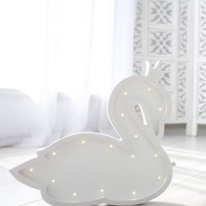 Perfect for setting a calm moon in your kid's bedroom, the Swan Princess Decorative Night Light gives a soft glow when turned on.
