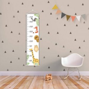 A perfect way to keep track of your little one's growth, the Tropical Forest Personalised Baby Growth Chart will brighten up any child's bedroom as well as provide a fun way to measure height.