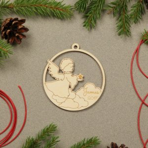 Suitable to be used year after year, the Angel Personalised Christmas Ornament will be a unique and beautiful gift for your loved ones.