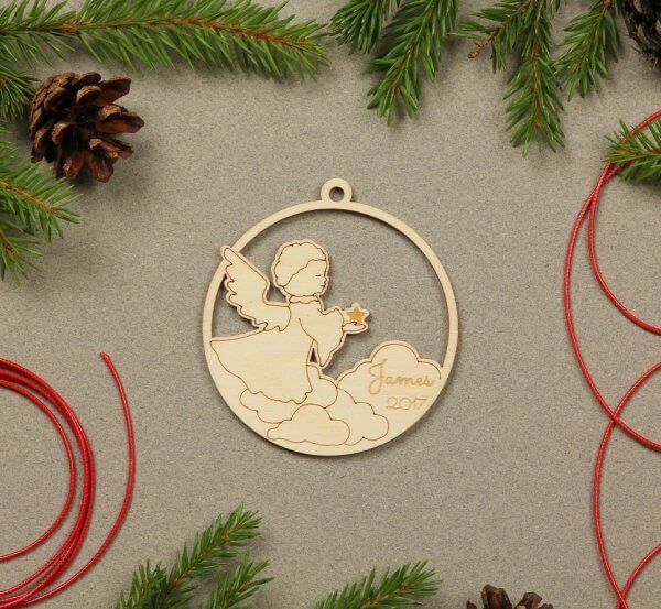 Angel Personalised Christmas Ornament – 2