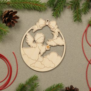 Suitable to be used year after year, the Angel Wooden Christmas Ornament will be a unique and beautiful gift for your loved ones.