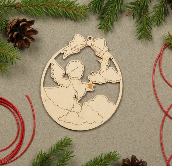Angel Wooden Christmas Ornament – 2