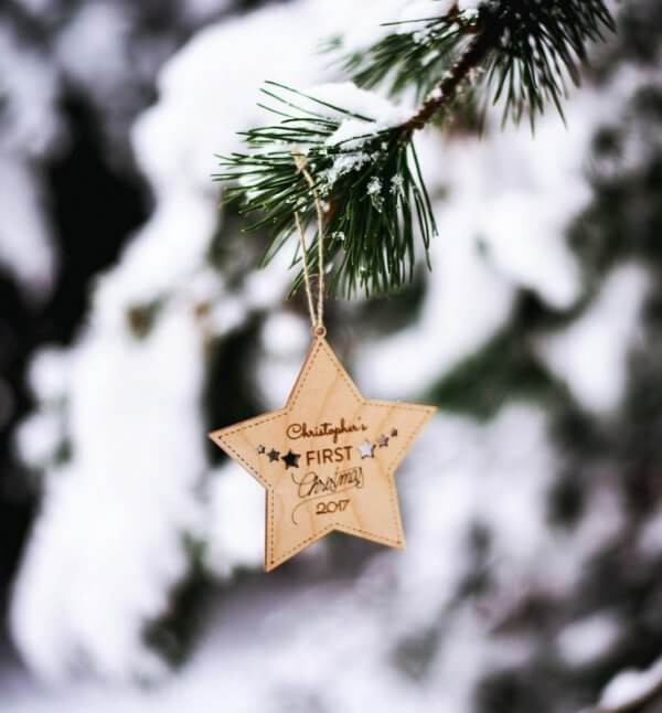 Baby First Christmas – Personalised Christmas Ornament – 4