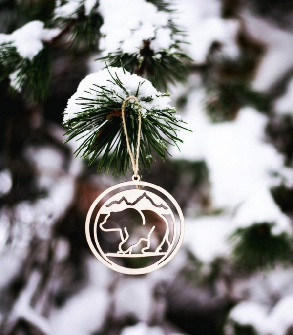 Bear Wooden Christmas Ornament – 3