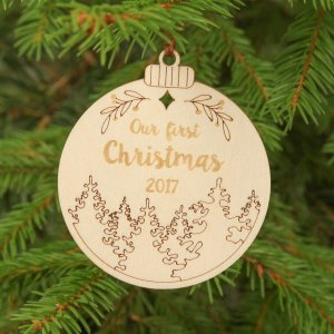 Suitable to be used year after year, the Couple Gift - Personalised Christmas Ornament will be a unique and beautiful gift for your loved ones.