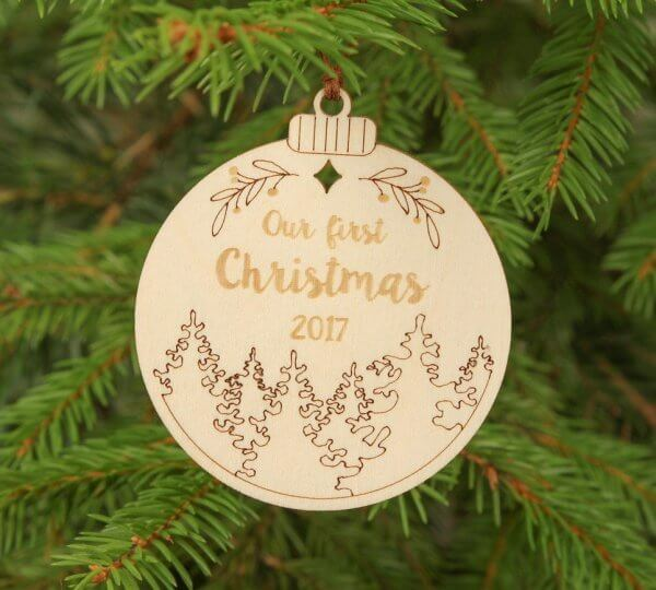 Couple Gift – Personalised Christmas Ornament – 2