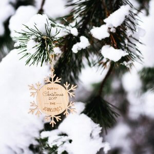 Suitable to be used year after year, the First Christmas Married - Personalised Christmas Ornament will be a unique and beautiful gift for your loved ones.
