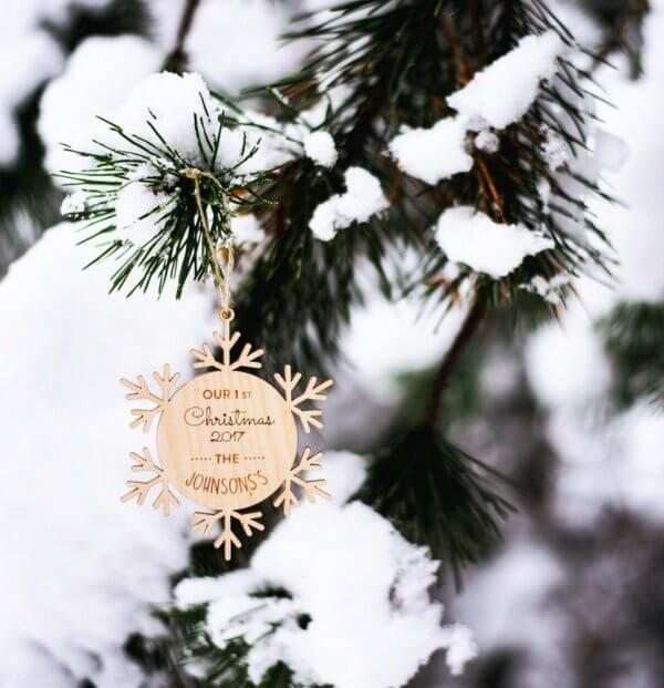 First Christmas Married – Personalised Christmas Ornament – 4
