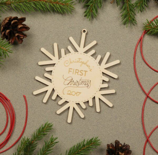 First Christmas – Personalised Christmas Ornament – 2