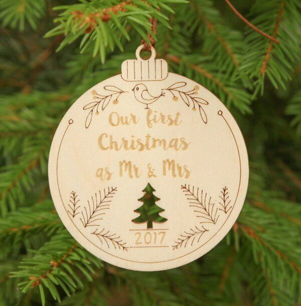 Mr & Mrs Christmas – Personalised Christmas Ornament – 2