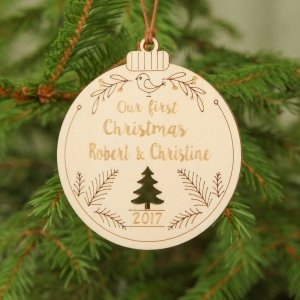 Suitable to be used year after year, the Our First Christmas - Personalised Christmas Ornament will be a unique and beautiful gift for your loved ones.