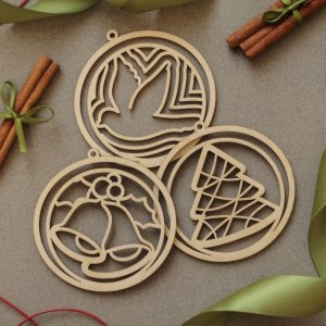 Suitable to be used year after year, the Set of 12 Laser Cut Ornaments - Christmas Ornaments will be a unique and beautiful gift for your loved ones.