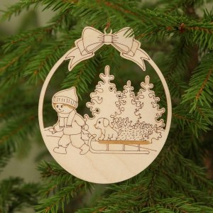 Suitable to be used year after year, the Sleigh Wooden Christmas Ornament will be a unique and beautiful gift for your loved ones.