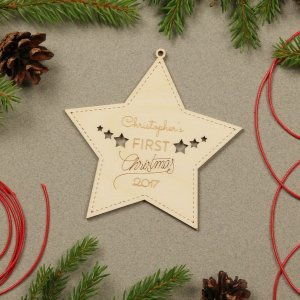 Suitable to be used year after year, the Star First Christmas - Personalised Christmas Ornament will be a unique and beautiful gift for your loved ones.