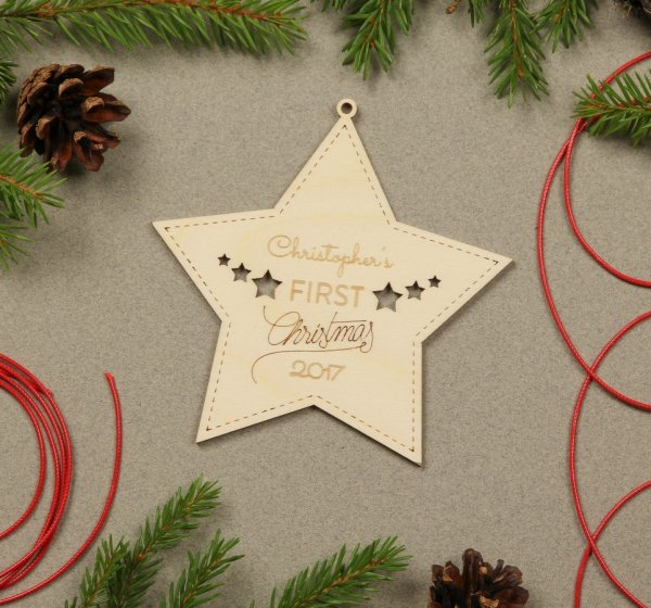 Star First Christmas – Personalised Christmas Ornament – 2