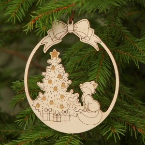 Suitable to be used year after year, the Winter Holiday Wooden Christmas Ornament will be a unique and beautiful gift for your loved ones.