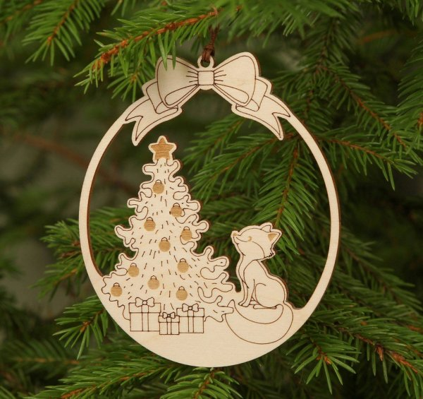 Winter Holiday Wooden Christmas Ornament – 2