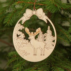 Suitable to be used year after year, the Wooden Deer Christmas Ornament will be a unique and beautiful gift for your loved ones.