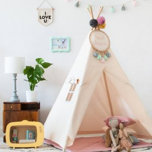 The perfect setting for imaginative play, the Classic Ecru Children's Teepee is as good to look at as to play in. It can easily be used inside your home or in the garden as well as on the terrace.